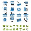 Online shop icons — Stock Vector #5030430