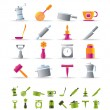 Kitchen and household tools icons - Stock Vector