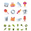 Sweet food and confectionery icons — Stock Vector
