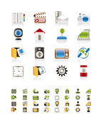 Internet, Computer and mobile phone icons — Stock Vector