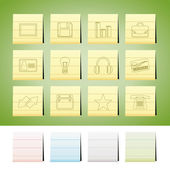 Iconos de oficina y negocio — Vector de stock