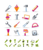 Costruzione strumenti icone — Vettoriale Stock