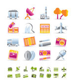 Průmyslu a ikony — Stock vektor