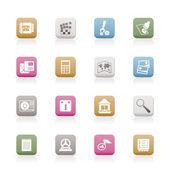 Cep telefonu ve bilgisayar simgesi — Stok Vektör