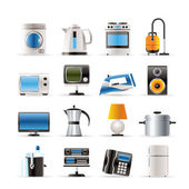 Woning apparatuur pictogrammen - vector icon set — Stockvector