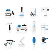 Building and Construction equipment icons — Stock Vector