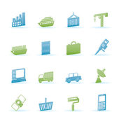 Industry and Business icons — Stock Vector