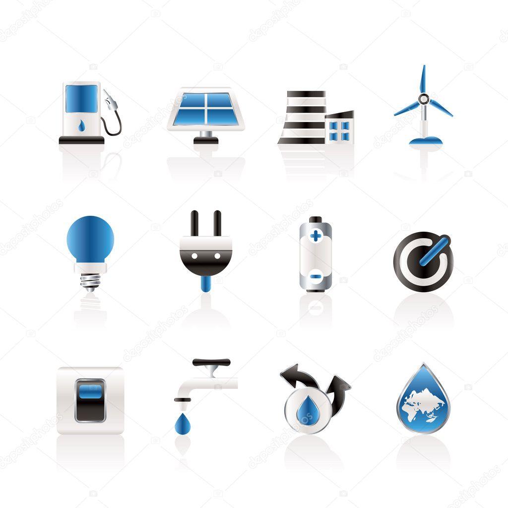 电力和能源的图标