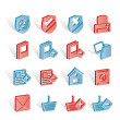 Internet and Website buttons and icons - Stock Vector