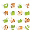 Online shop icons — Vettoriali Stock