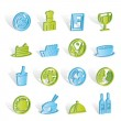 Restaurant, food and drink icons — Stock Vector #5053167