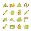Tourism and hiking icons — Stockvektor #5053297