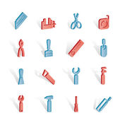 Building and Construction Tools icons — Stockvector