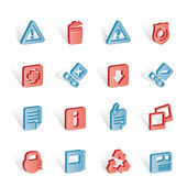 Web site and computer Icons — 图库矢量图片