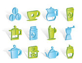 Coffee industry signs and icons — Stock Vector