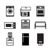 Home electronics and equipment icons — Stock vektor