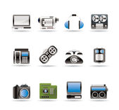 Electronics, media and technical equipment icons — Stock Vector