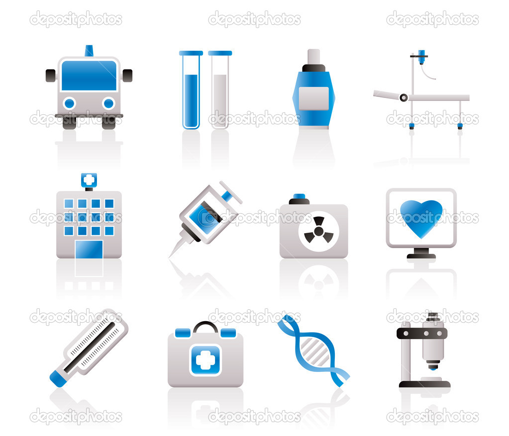 Medicine and healthcare icons - vector icon set — Stock Vector #5053797