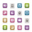 Business and Office Realistic Internet Icons — Stock Vector #5062069