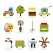 Farming industry and farming tools icons - Stock Vector