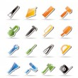 Construction and Building Tools icons - Stock Vector