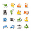 Simple Online Shop icons — Stock Vector