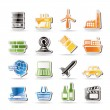Simple Business and industry icons — Stock Vector
