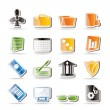 Simple Business and Office Icons — Imagen vectorial