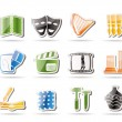 Different kind of Art Icons — Stock Vector