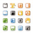 Simple Home and Office, Equipment Icons — Stock Vector