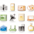 Stock Vector: Simple Communication and Business Icons