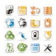 Simple Server Side Computer icons - Stock Vector