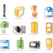 Simple Kitchen and home equipment icons — Imagen vectorial