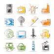 Simple Business and industry icons — Stock Vector #5065442