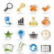 Simple Internet and Web Site Icons - Imagens vectoriais em stock
