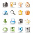Simple Internet and Website Icons  — Stock Vector