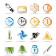 Car Dashboard icons — Stock Vector