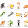 Shop, food and drink icons 2 — Stockvektor