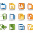 Mobile Phone, Computer and Internet Icons — Stock Vector