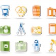 Stock Vector: Photography equipment icons