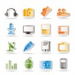 Media equipment icons — Stock Vector