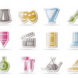 Different kind of art icons — Stock Vector #5068170