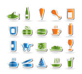 Shop and Foods Icons — Stock Vector