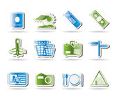 Simple Travel and trip Icons — Stock Vector