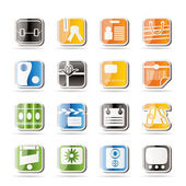 Simple Business and Internet Icons — Stock Vector