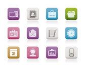 Web アプリケーション、ビジネスやオフィスのアイコン、普遍的なアイコン — ストックベクタ