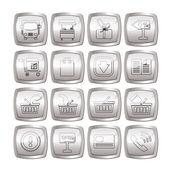 Online alışveriş simgeleri — Stok Vektör