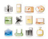 Simple Communication and Business Icons — Stock Vector