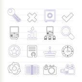 Icônes de site web et internet — Vecteur