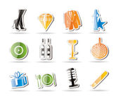 Simple Luxury party and reception icons — Stock Vector
